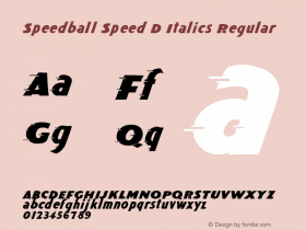 Speedball Speed D Italics