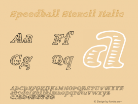 Speedball Stencil