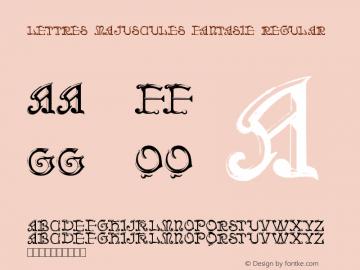 Lettres Majuscules Fantasie