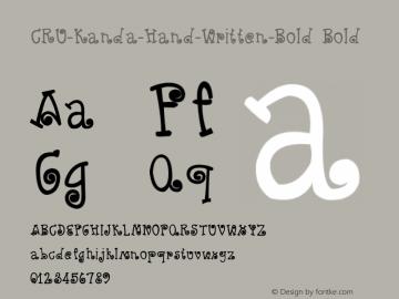 CRU-Kanda-Hand-Written-Bold