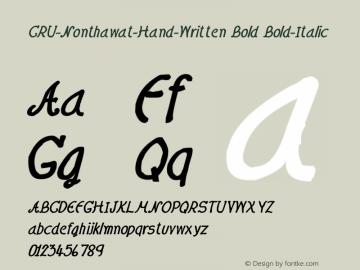 CRU-Nonthawat-Hand-Written Bold