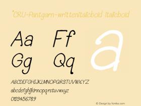 *CRU-Pantgarn-writtenitalicbold