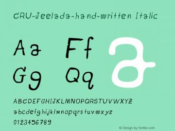 CRU-Jeelada-hand-written