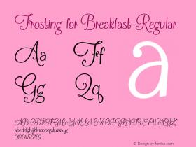 Frosting for Breakfast