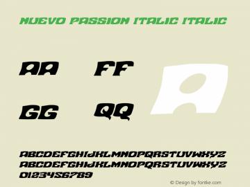Nuevo Passion Italic