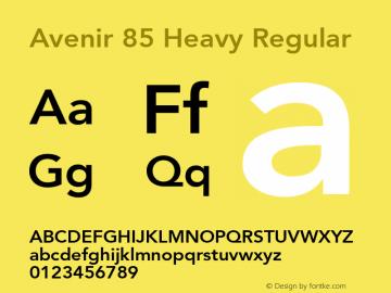 Avenir 85 Heavy
