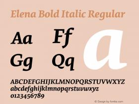 Elena Bold Italic