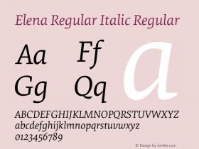 Elena Regular Italic