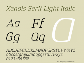Xenois Serif Light