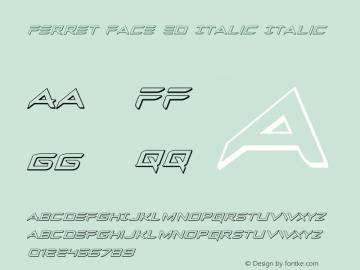 Ferret Face 3D Italic