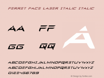Ferret Face Laser Italic