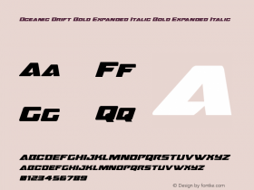 Oceanic Drift Bold Expanded Italic