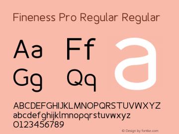Fineness Pro Regular