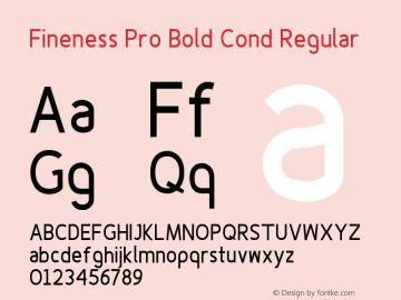Fineness Pro Bold Cond