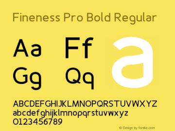 Fineness Pro Bold