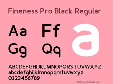 Fineness Pro Black
