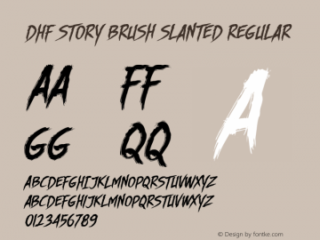DHF Story Brush Slanted