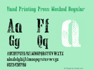 Hand Printing Press Meshed