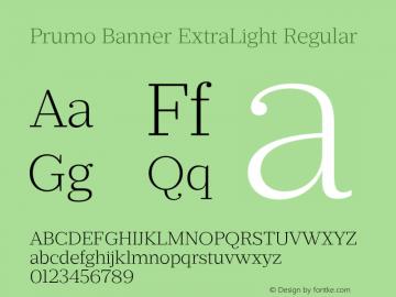 Prumo Banner ExtraLight