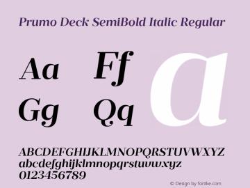 Prumo Deck SemiBold Italic