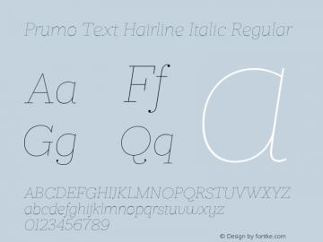 Prumo Text Hairline Italic