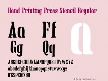 Hand Printing Press Stencil