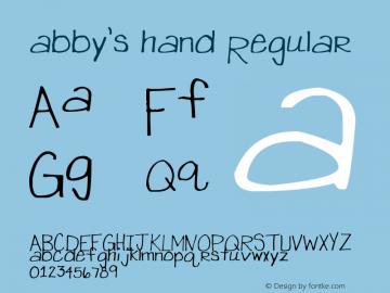 abby's hand