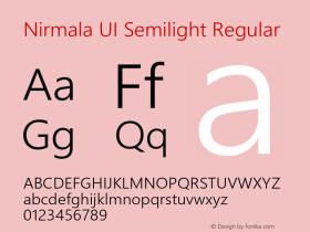 Nirmala UI Semilight