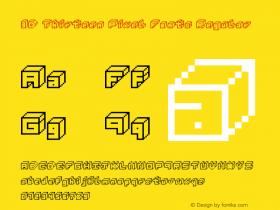 3D Thirteen Pixel Fonts