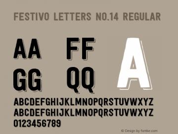 Festivo Letters No.14