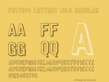Festivo Letters No.9