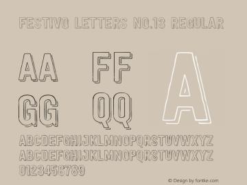 Festivo Letters No.13