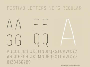 Festivo Letters No.16