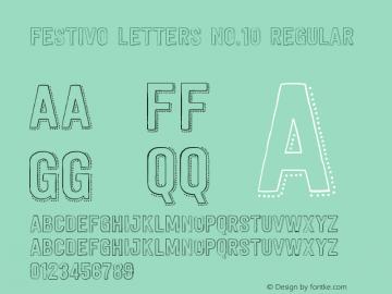 Festivo Letters No.10