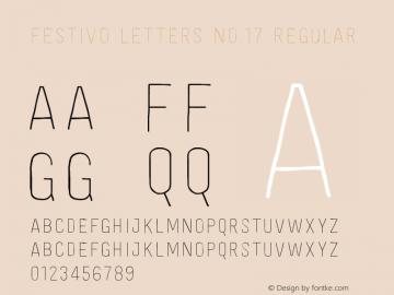 Festivo Letters No.17