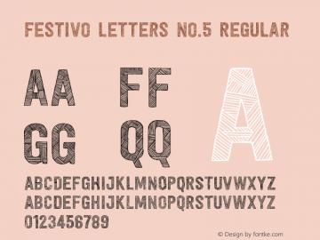 Festivo Letters No.5