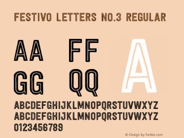 Festivo Letters No.3