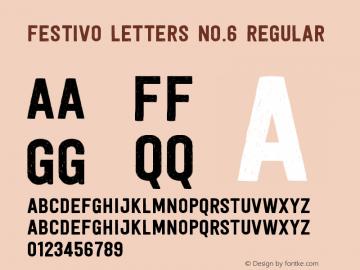 Festivo Letters No.6