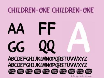 CHILDREN-ONE
