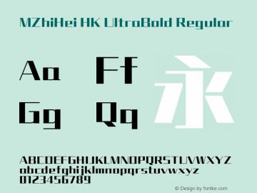MZhiHei HK UltraBold