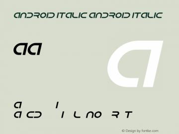 Android Italic