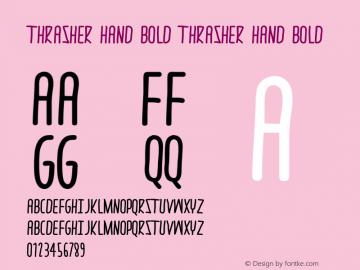 thrasher hand Bold