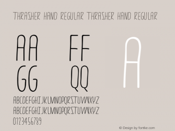 thrasher hand Regular