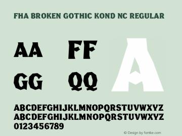 FHA Broken Gothic Kond NC