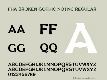 FHA Broken Gothic No1 NC