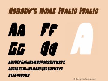 Nobody's Home Italic