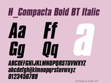 H_Compacta Bold BT