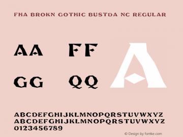 FHA Brokn Gothic BustdA NC