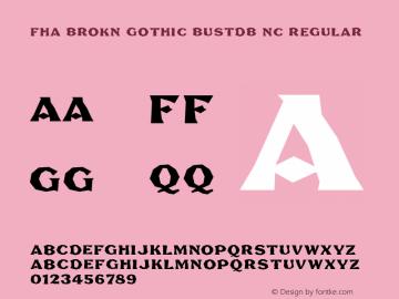 FHA Brokn Gothic BustdB NC