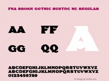 FHA Brokn Gothic BustdC NC